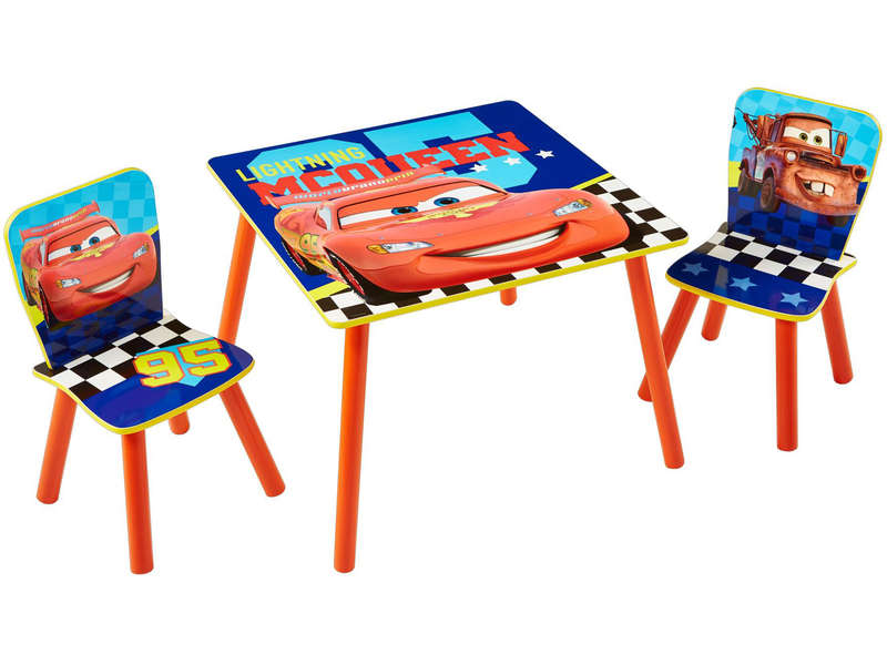 mobilier enfant table 2 chaises cars vente de chaise et fauteuil enfant conforama. Black Bedroom Furniture Sets. Home Design Ideas