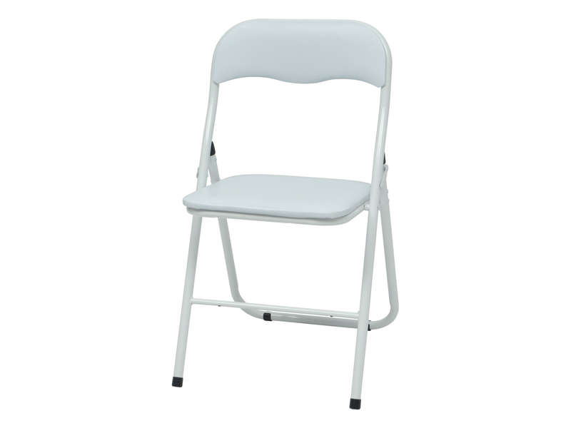 Chaise pliante breva coloris blanc vente de table et - Table pliante avec chaises integrees ...