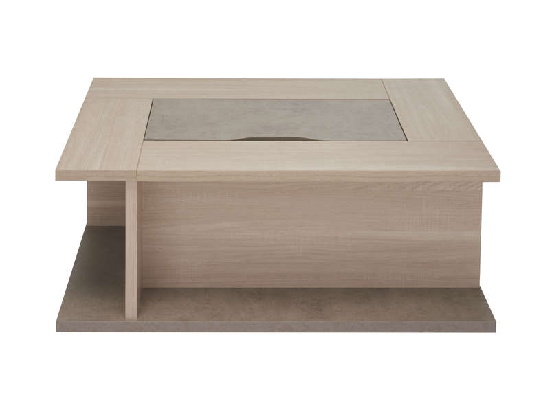 Table basse avec bar eliza vente de table basse conforama - Table de salon avec rangement ...