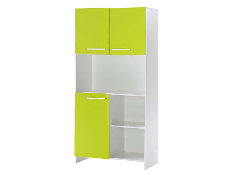 Buffet 3 portes + 3 niches FLORIDA W coloris blanc/vert
