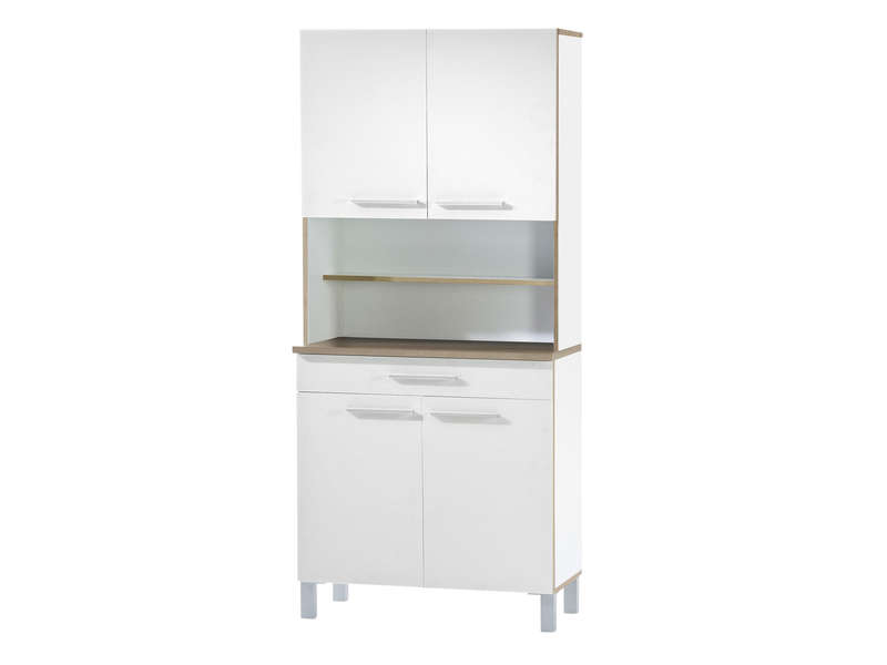 buffet de cuisine cm debora coloris blanc vente de. Black Bedroom Furniture Sets. Home Design Ideas