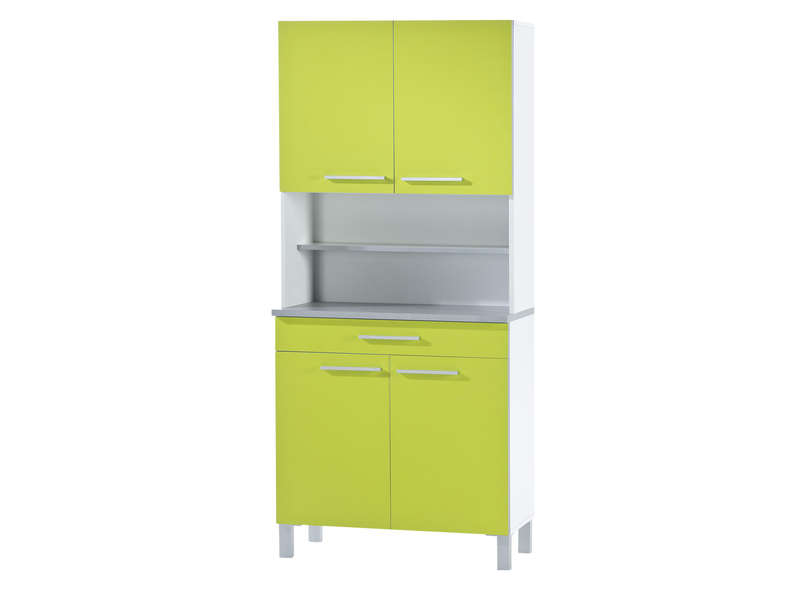 buffet de cuisine cm debora coloris vert blanc vente de buffet de cuisine conforama. Black Bedroom Furniture Sets. Home Design Ideas