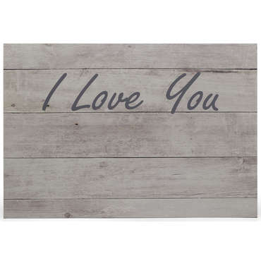 tête de lit 160 cm i love you naturel - vente de tête de lit
