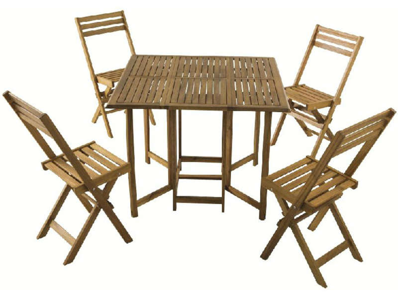ensemble table 4 chaises de jardin vente de ensemble. Black Bedroom Furniture Sets. Home Design Ideas