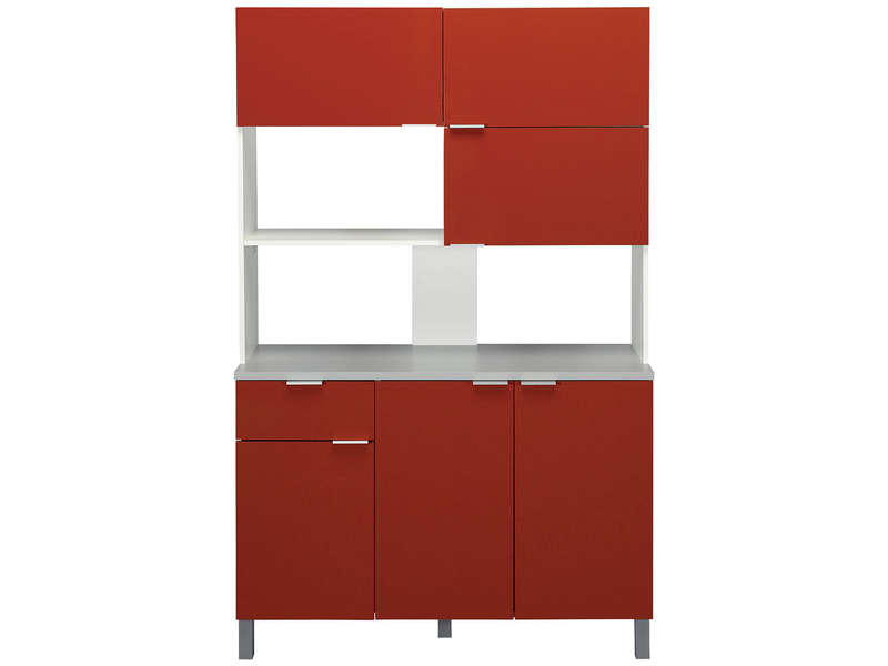 buffet de cuisine lips coloris rouge vente de buffet de. Black Bedroom Furniture Sets. Home Design Ideas