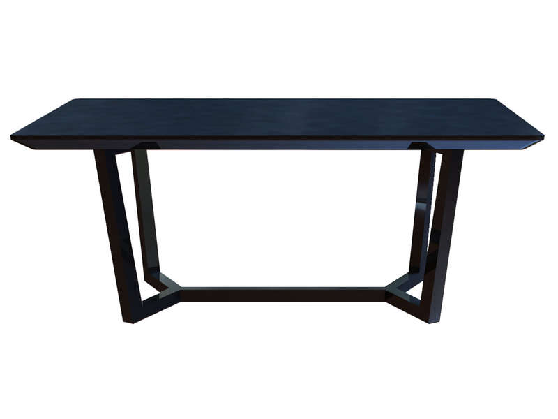 Table rectangulaire 160 cm newport coloris noir chez conforama for Chemin de table conforama