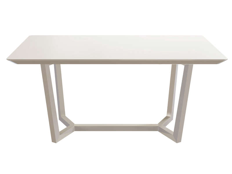 table rectangulaire 160 cm newport coloris blanc chez conforama. Black Bedroom Furniture Sets. Home Design Ideas