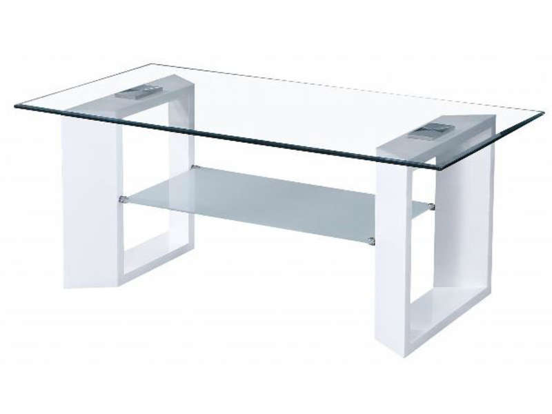 Table basse samarah coloris blanc vente de table basse conforama - Table salon verre conforama ...