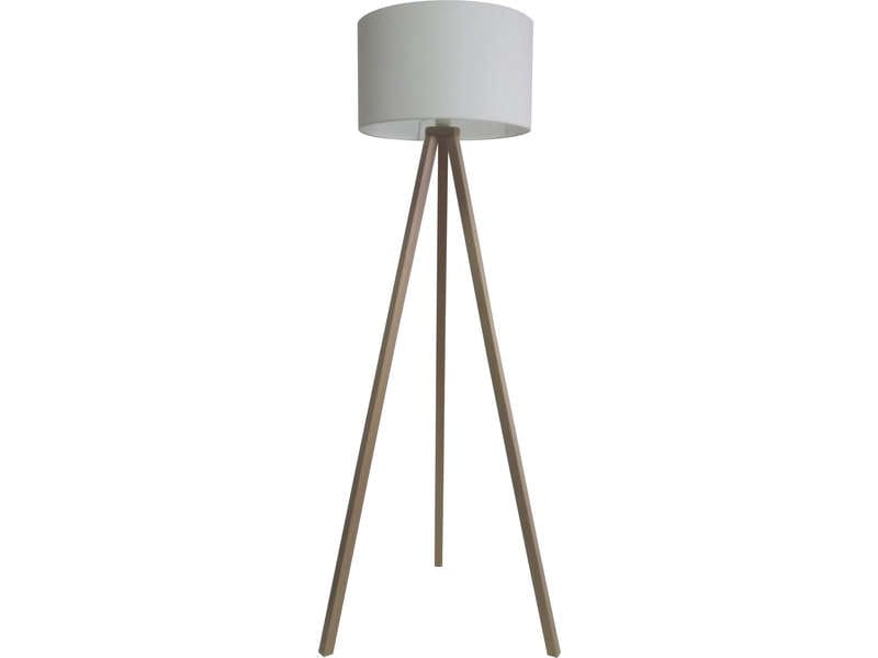 lampadaire oskar bois naturel coloris blanc vente de lampadaire conforama. Black Bedroom Furniture Sets. Home Design Ideas