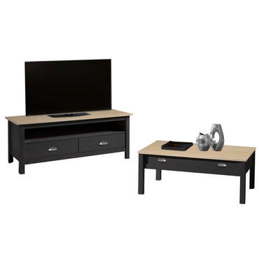 meuble tv 110 cm finition verni amazone coloris anthracite et ch ne vente de meuble tv conforama. Black Bedroom Furniture Sets. Home Design Ideas