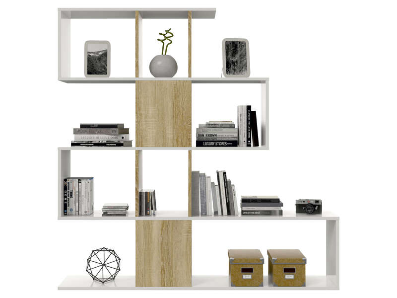 Bibliotheque meuble conforama conceptions de maison for Meuble zoe conforama