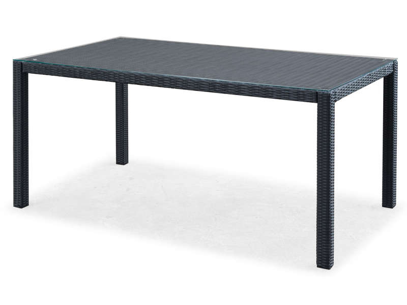 Table rectangulaire de jardin L.160 cm