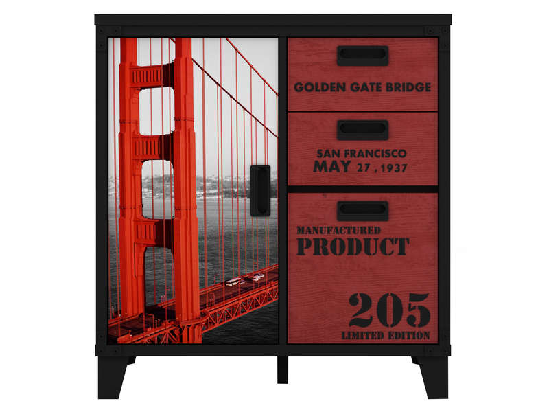 Rangement s jour golden gate f9 vente de buffet bahut for Bureau new york conforama