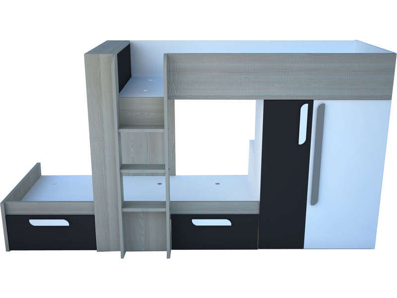 lit superpos 90x190 cm duo f4 vente de lit enfant. Black Bedroom Furniture Sets. Home Design Ideas