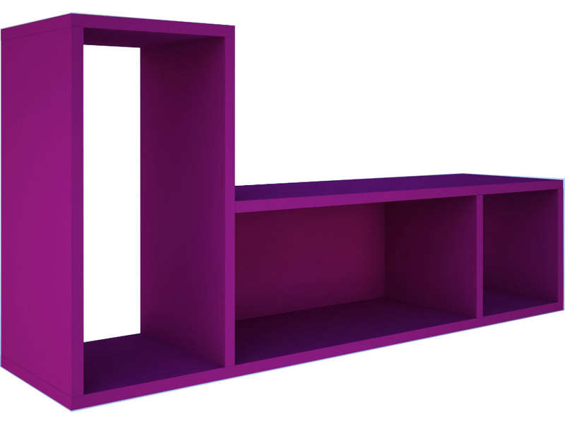 etag re murale uno coloris fuchsia vente de etag re conforama. Black Bedroom Furniture Sets. Home Design Ideas