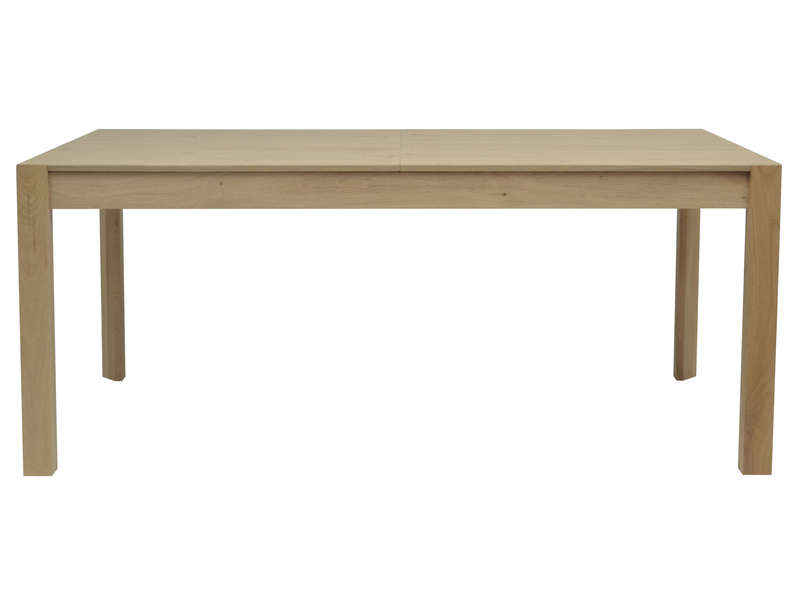 Table rectangulaire avec allonge 260 cm max bergen coloris naturel chez conforama - Table rectangulaire avec allonge ...