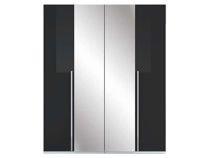 armoire 4 portes crystal 2 coloris noir vente de armoire conforama. Black Bedroom Furniture Sets. Home Design Ideas