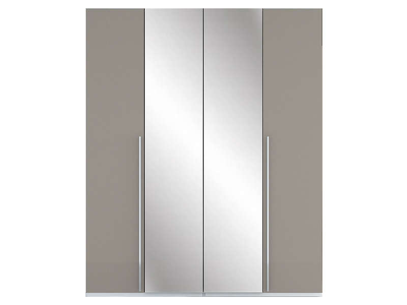 armoire 4 portes crystal 2 coloris taupe vente de armoire conforama. Black Bedroom Furniture Sets. Home Design Ideas