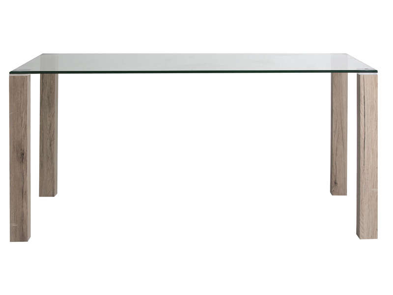 Table rectangulaire 160 cm en verre kenia vente de table - Table de salon conforama en verre ...