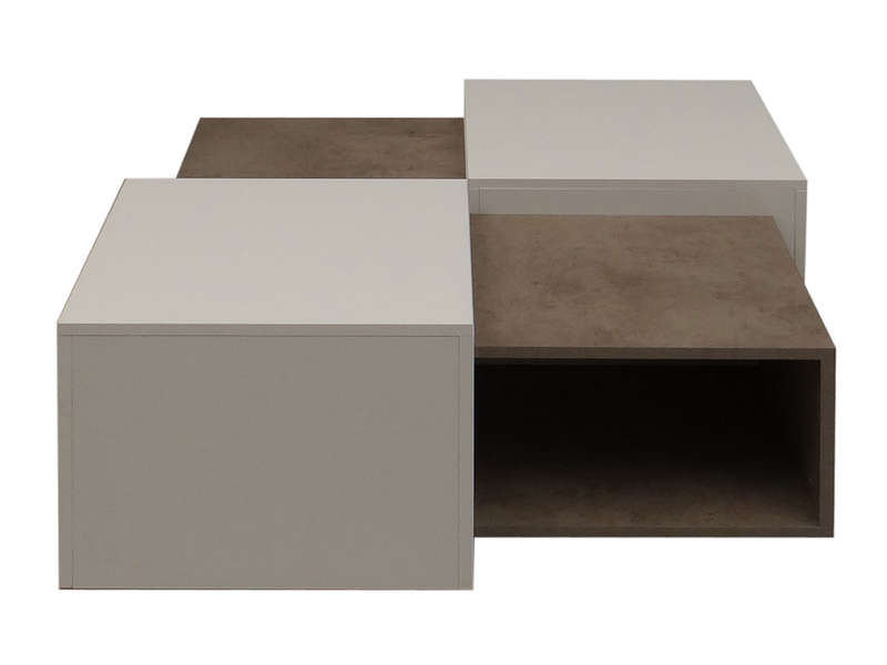 table basse kube coloris blanc b ton vente de table basse conforama. Black Bedroom Furniture Sets. Home Design Ideas