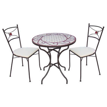 Table de jardin ronde diam.110 cm-617252