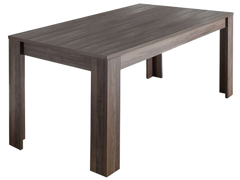 Table rectangulaire 180 cm palma d cor noyer chez conforama - Table de maquillage conforama ...