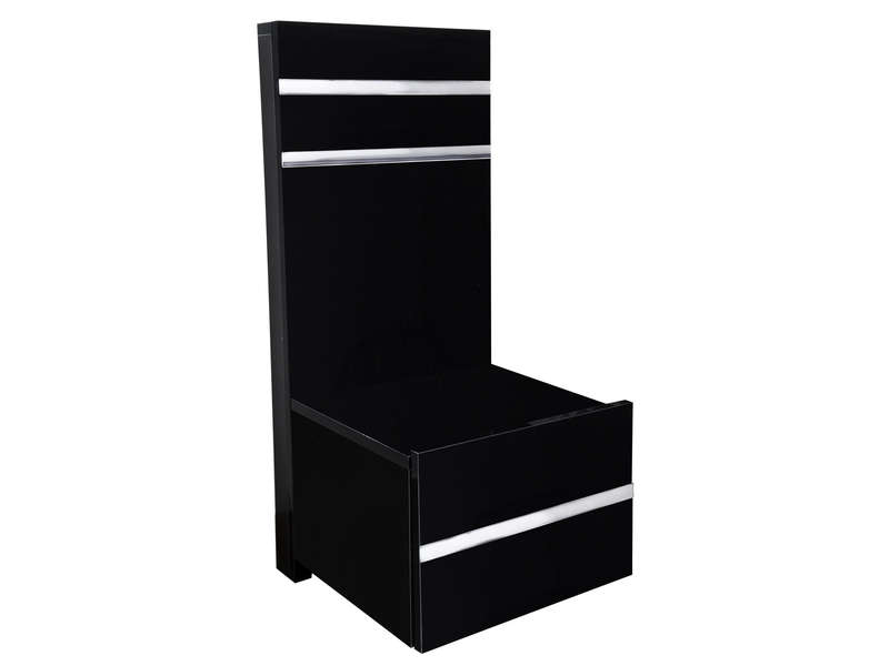 chevet glass coloris noir vente de chevet conforama. Black Bedroom Furniture Sets. Home Design Ideas