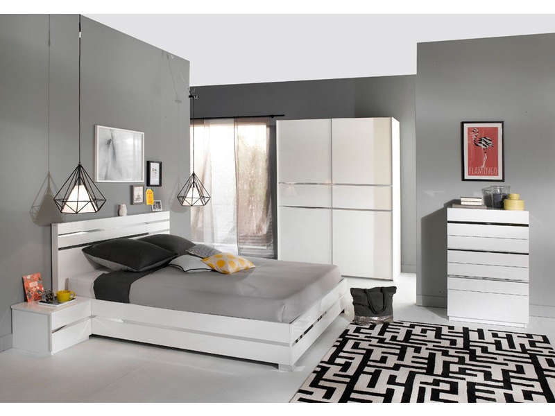 armoire 2 portes coulissantes glass coloris blanc vente de armoire conforama. Black Bedroom Furniture Sets. Home Design Ideas