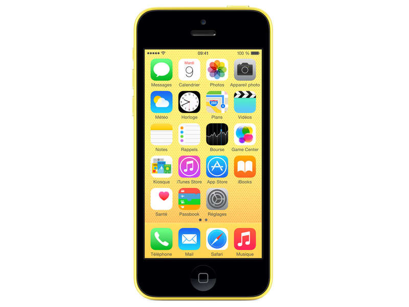 smartphone reconditionn apple iphone 5c jaune reconditionne grade a chez conforama. Black Bedroom Furniture Sets. Home Design Ideas