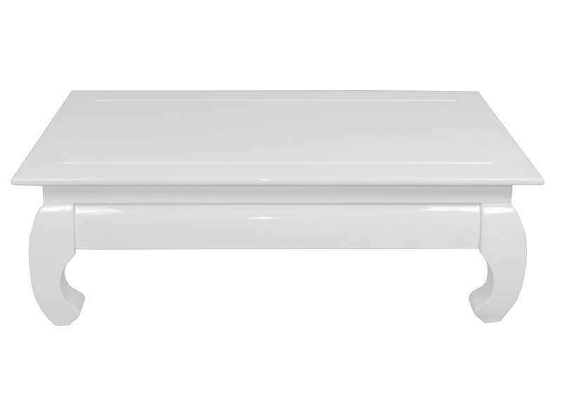 Table basse rectangulaire opium coloris blanc chez conforama for Table blanche conforama