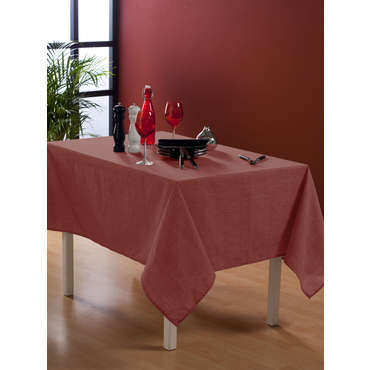 nappe rectangulaire 140x240 cm coloris rouge. Black Bedroom Furniture Sets. Home Design Ideas