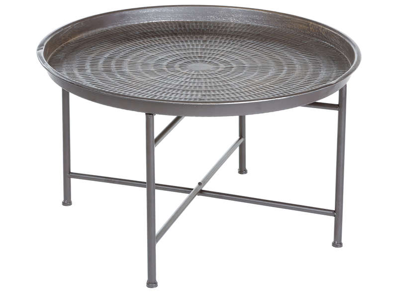 Table basse ronde en m tal martel cm madina for Table basse en aluminium