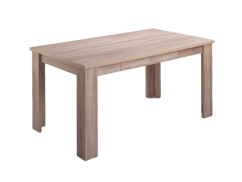 table rectangulaire 160 cm oak coloris sonoma chez conforama. Black Bedroom Furniture Sets. Home Design Ideas