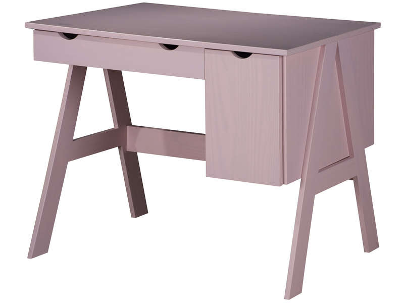 Bureau porte tiroir dolly coloris rose vente de bureau
