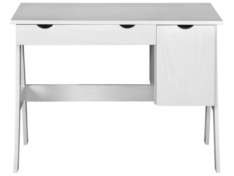 Bureau 1 Porte 1 Tiroir Dolly Coloris Blanc Vente De