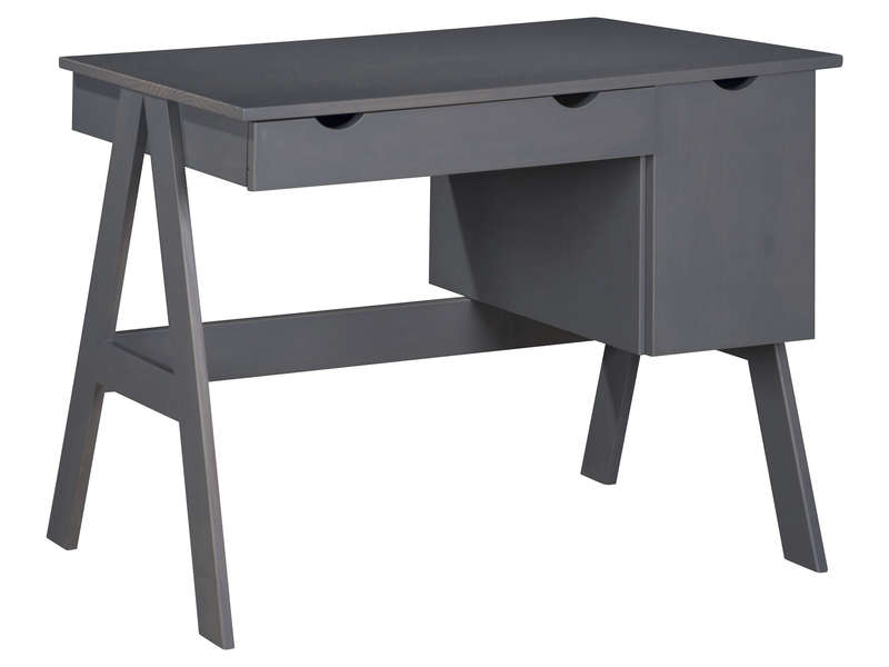 bureau 1 porte 1 tiroir dolly coloris gris vente de. Black Bedroom Furniture Sets. Home Design Ideas