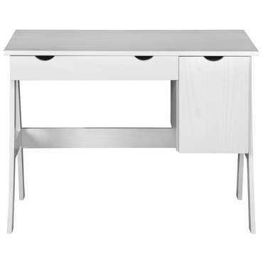 Bureau 1 porte, 1 tiroir DOLLY coloris blanc