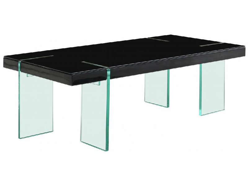 table basse rectangulaire ovio coloris noir chez conforama. Black Bedroom Furniture Sets. Home Design Ideas