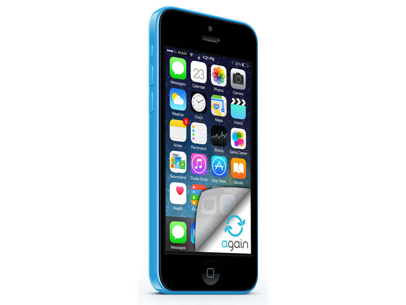smartphone 4 dual core apple iphone 5c bleu. Black Bedroom Furniture Sets. Home Design Ideas