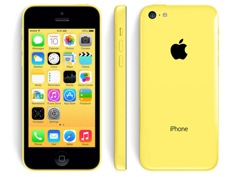 Smartphone 4 '' reconditionné APPLE IPHONE 5C 32Go JAUNE RECONDITIONNE GRADE A