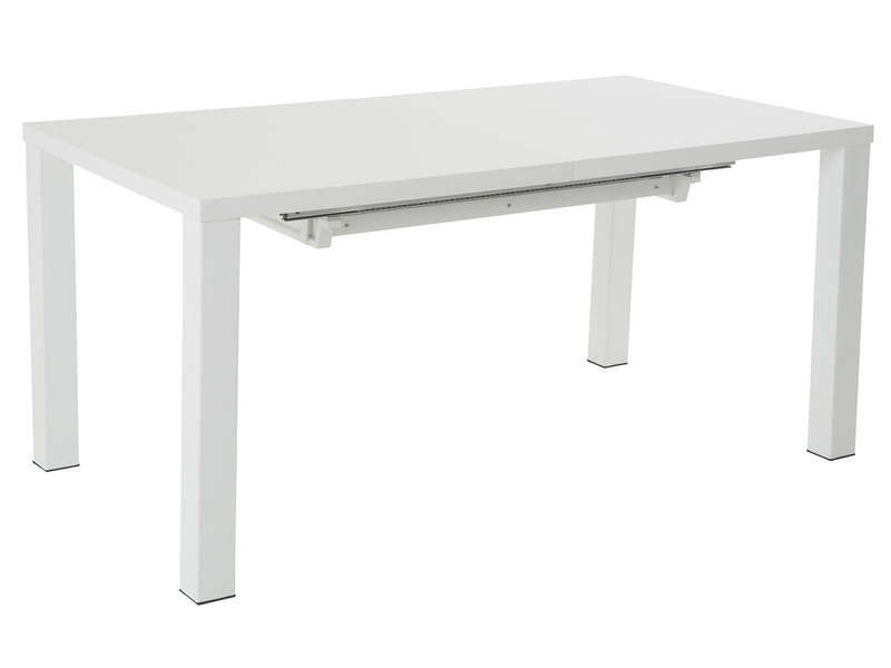 Table rectangulaire avec allonges l 250 cm max ashley for Table rectangulaire 160 cm avec rallonge
