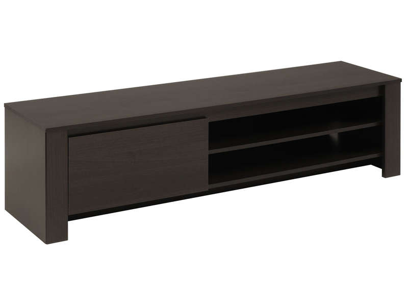 Banc TV 1 porte + 2 niches AMBER  Vente de Meuble tv  Conforama -> Table En Bois Pour Tv Ecran Plat