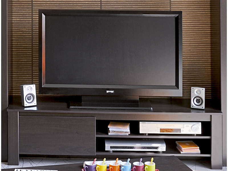 banc tv 1 porte 2 niches amber vente de meuble tv conforama. Black Bedroom Furniture Sets. Home Design Ideas
