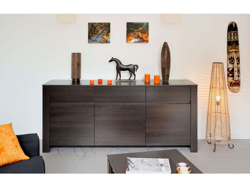 buffet 3 portes 1 tiroir amber vente de buffet bahut vaisselier conforama. Black Bedroom Furniture Sets. Home Design Ideas