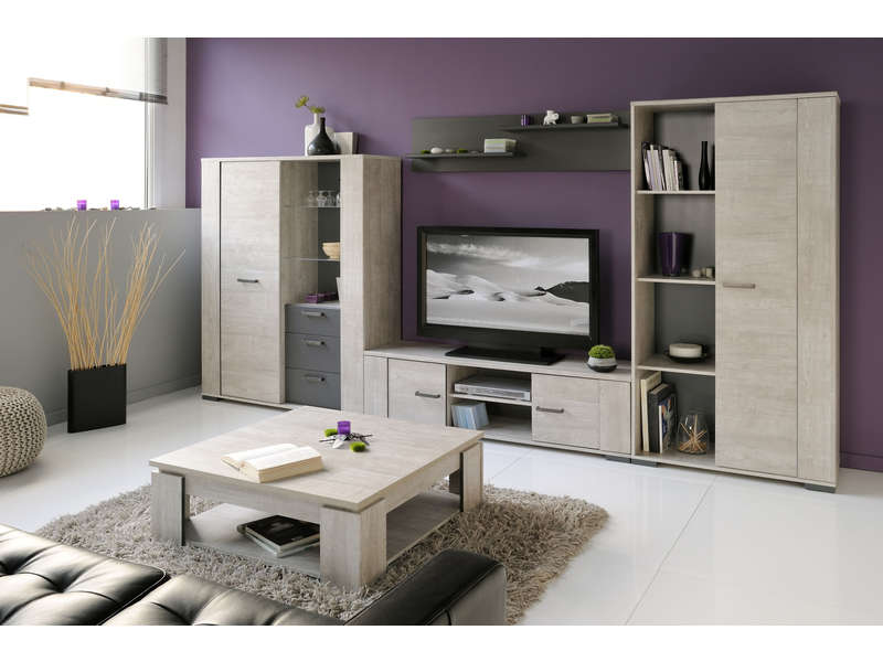meuble tv 40 cm new bop coloris gris vente de meuble tv conforama. Black Bedroom Furniture Sets. Home Design Ideas