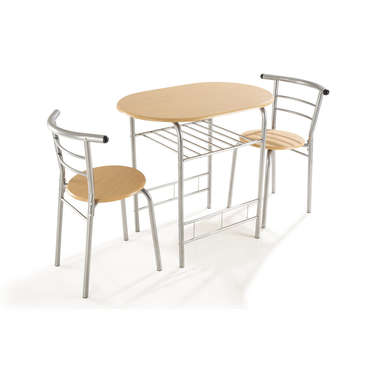 Table 80 x 53 cm + 2 chaises DUO