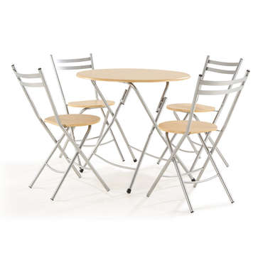 Table D.80 cm + 4 chaises FILO