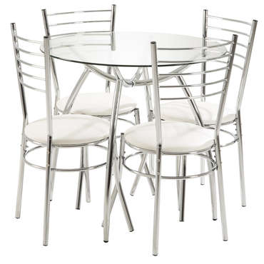Table ronde 80 cm + 4 chaises APOLLO