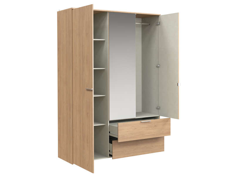 armoire 3 portes battantes tempo 1 vente de armoire conforama. Black Bedroom Furniture Sets. Home Design Ideas