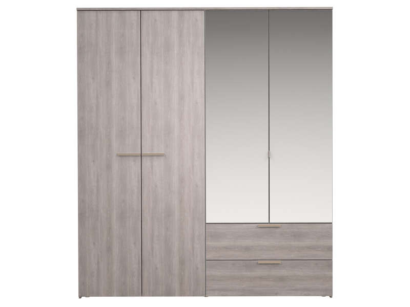 armoire 4 portes battantes tempo 2 chez conforama. Black Bedroom Furniture Sets. Home Design Ideas